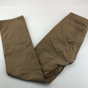 Bonobos Mens Washed Chino Pants Brown Straight Fit
